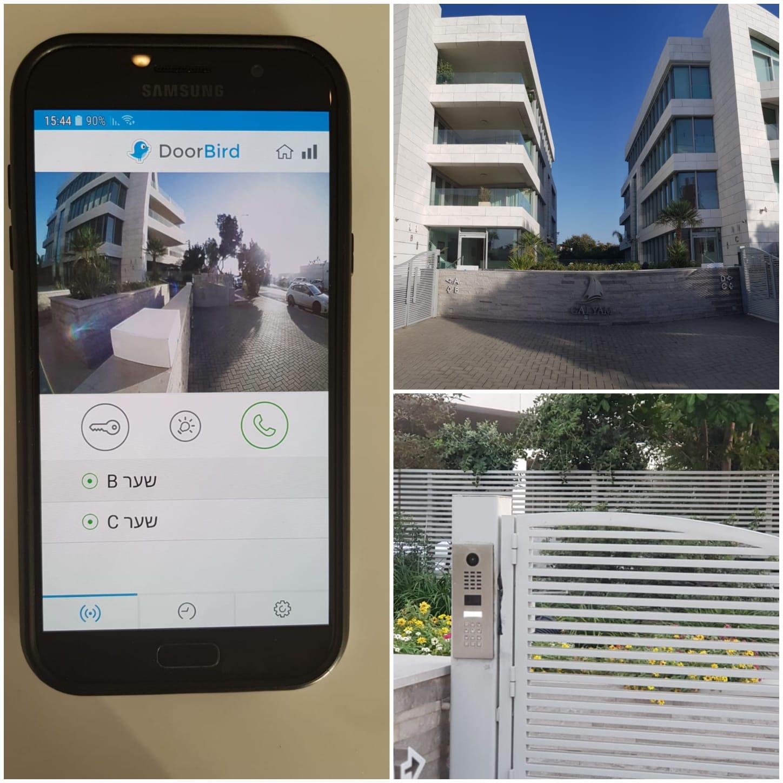 התקנת 3 פאנלים עם קודן לניהול כניסות בקומפלקס של 3 בניינים בהרצליה